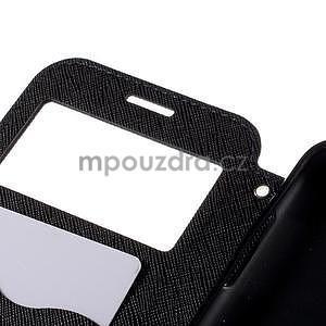 PU kožené pouzdro s okýnkem pro Samsung Galaxy J5 - tmavě modré - 7