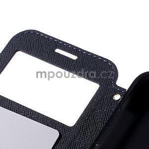 PU kožené puzdro s okienkom pro Samsung Galaxy J5 - fialové - 7