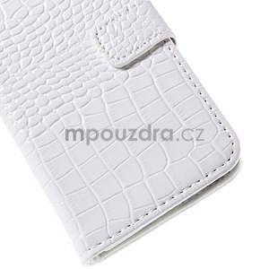 PU kožené pouzdro s imitací krokodýlí kůže Samsung Galaxy J5 - bílé - 7