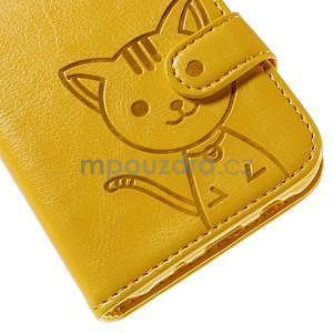 Peněženkové pouzdro s kočičkou Domi na Samsung Galaxy J5 - žluté - 7