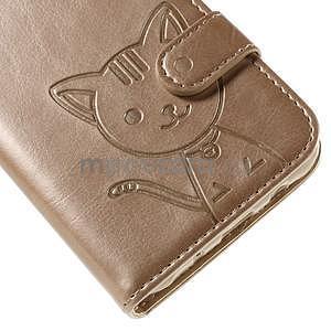 Peňaženkové puzdro s kočičkou Domi pre Samsung Galaxy J5 - champagne - 7