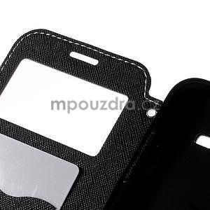 PU kožené puzdro s okienkom pro Samsung Galaxy J5 - biele - 7