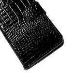 PU kožené pouzdro s imitací krokodýlí kůže Samsung Galaxy J5 - černé - 7/7