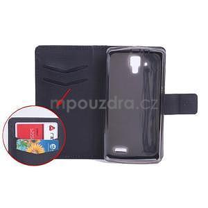 Koženkové puzdro pre mobil Lenovo A536 - čierne - 7