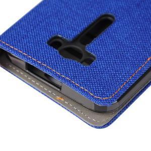 Jeans puzdro na mobil Asus Zenfone 2 Laser - tmavomodré - 7
