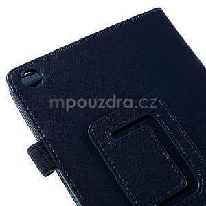 Koženkové puzdro pre tablet Asus ZenPad 7.0 Z370CG - tmavomodré - 7