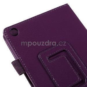 Koženkové puzdro na tablet Asus ZenPad 7.0 Z370CG - fialové - 7