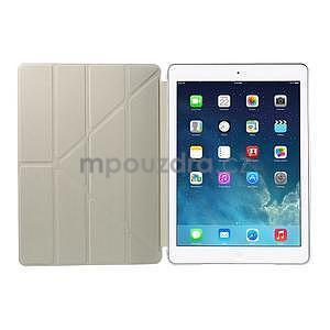 Origami ochranné puzdro pre Apple iPad Air - biele - 7