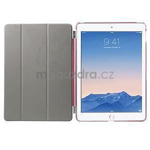 Trifold polohovateľné puzdro na iPad Air 2 - rose - 7
