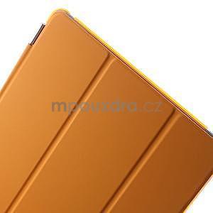 Trifold polohovateľné puzdro pre iPad Air 2 - oranžové - 7