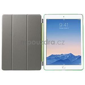 Trifold polohovateľné puzdro pre iPad Air 2 - zelené - 7