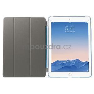 Trifold polohovateľné puzdro na iPad Air 2 - modré - 7