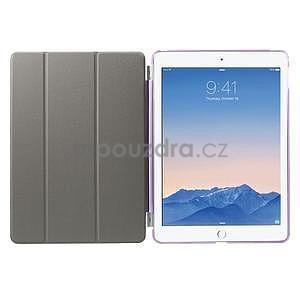 Trifold polohovateľné puzdro na iPad Air 2 - fialové - 7