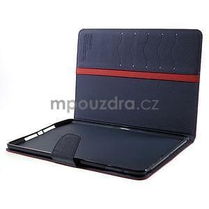 Diary peňaženkové puzdro na iPad Air - červené - 7