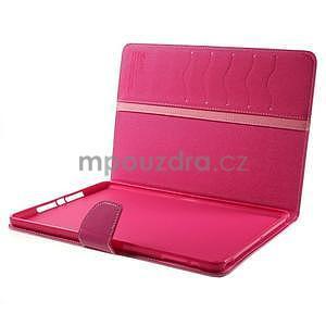 Diary peňaženkové puzdro pre iPad Air - ružové - 7