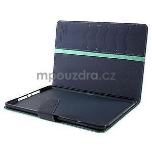 Diary peňaženkové puzdro na iPad Air - azúrové - 7