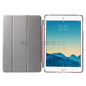 Classic troj polohové puzdro pre iPad Mini 3, ipad Mini 2 a na iPad Mini -  ružové - 7