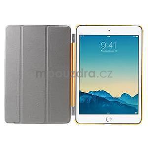 Classic troj polohové puzdro pre iPad Mini 3, ipad Mini 2 a na iPad Mini -  oranžová - 7