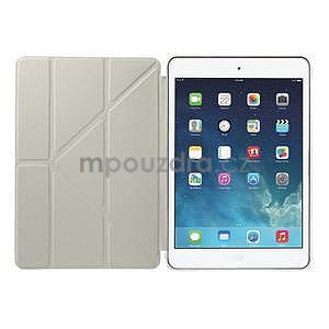 Origami ochranné puzdro iPad Mini 3, iPad Mini 2, iPad mini - biele - 7