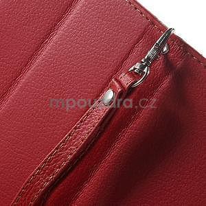 Supreme peňaženkové puzdro pre Lenovo P70 - červené/hnedé - 7