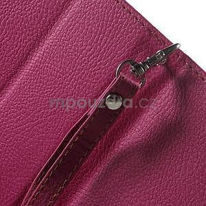 Supreme peňaženkové puzdro na Lenovo P70 - rose/hnedé - 7