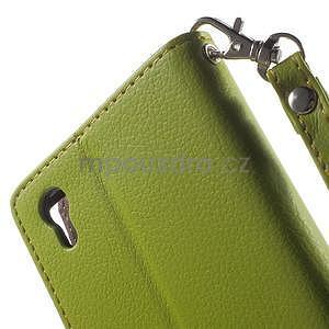 Supreme peňaženkové puzdro na Lenovo P70 - zelené/hnedé - 7