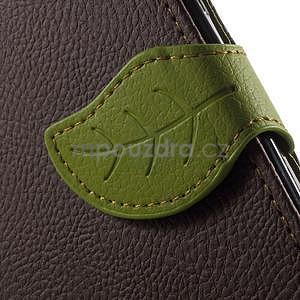 Supreme peňaženkové puzdro na Lenovo P70 - hnedé/zelené - 7