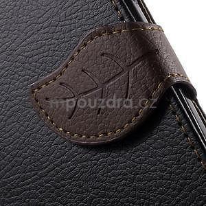 Supreme peňaženkové puzdro pre Lenovo P70 - čierné/hnedé - 7