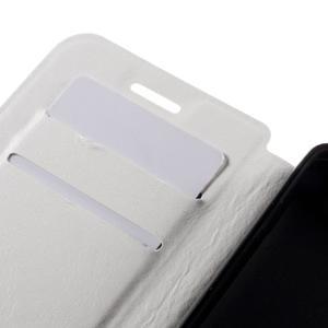 Peněženkové PU kožené pouzdro na mobil Doogee X5 - bílé - 7