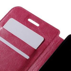Peňaženkové PU kožené puzdro pre mobil Doogee X5 - rose - 7