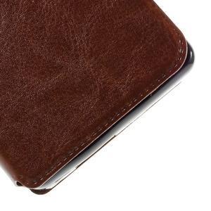 Peněženkové PU kožené pouzdro na mobil Doogee X5 - hnědé - 7