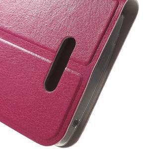 Horse peňaženkové puzdro pre Lenovo A2010 - rose - 7