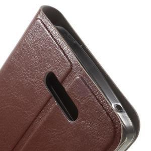 Horse peňaženkové puzdro pre Lenovo A2010 - hnedé - 7