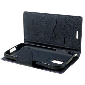 Diary PU kožené puzdro pre Samsung Galaxy S5 mini - fialové - 7