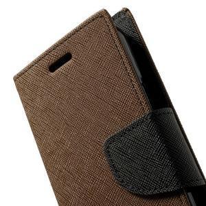 Diary PU kožené puzdro pre Samsung Galaxy S5 mini - hnedé - 7