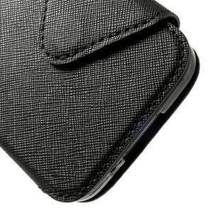 Peňaženkové puzdro s okienkom pro Samsung Galaxy S5 mini -  čierne - 7
