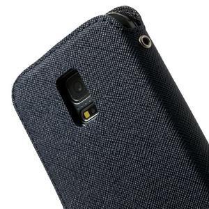 Pěněženkové pouzdro s okýnkem pro Samsung Galaxy S5 mini -  tmavěmodré - 7