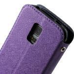 Peňaženkové puzdro s okienkom pro Samsung Galaxy S5 mini -  fialové - 7/7