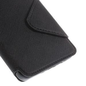 Štýlové puzdro s okienkom pre Samsung Galaxy A5 - čierné - 7