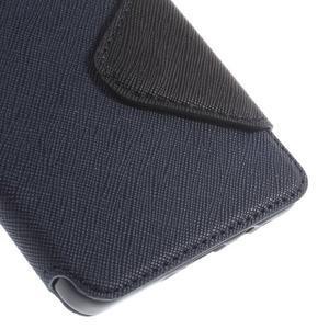 Stylové puzdro s okýnkem na Samsung Galaxy A5 - tmavo modré - 7