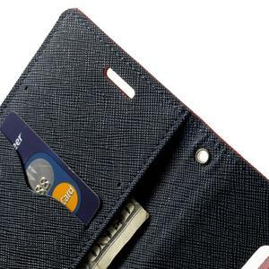 Diary PU kožené puzdro pre Samsung Galaxy S5 mini - červené - 7