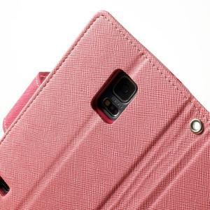 Diary PU kožené pouzdro na Samsung Galaxy S5 mini - růžové - 7