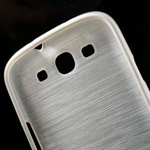 Brush gélový kryt na Samsung Galaxy S III / Galaxy S3 - biely - 7
