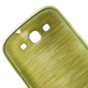 Brush gélový kryt pre Samsung Galaxy S III / Galaxy S3 - zelený - 7