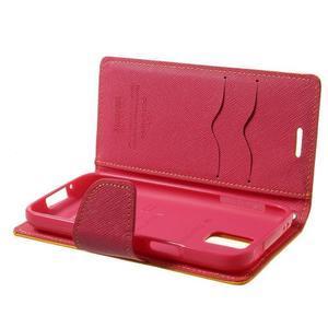 Diary PU kožené pouzdro na Samsung Galaxy S5 mini - žlutooranžové - 7