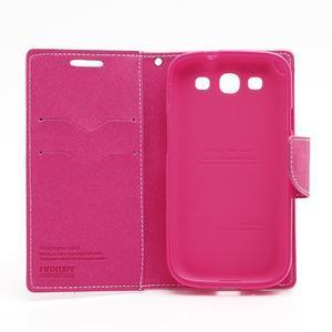 Mr. Fancy koženkové puzdro na Samsung Galaxy S3 - růžové - 7