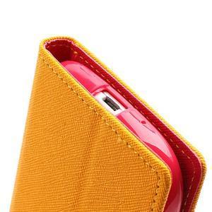 Mr. Fancy koženkové puzdro na Samsung Galaxy S3 - žlté - 7