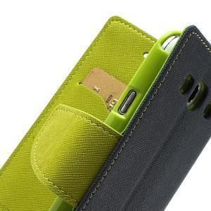 Mr. Fancy koženkové puzdro pre Samsung Galaxy S3 - tmavo modré - 7
