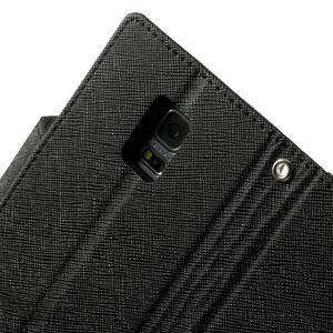 Diary PU kožené pouzdro na Samsung Galaxy S5 mini - černé - 7