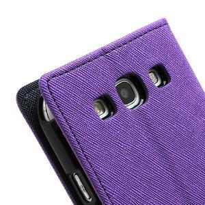 Mr. Fancy koženkové puzdro na Samsung Galaxy S3 - fialové - 7